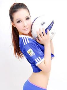 足球宝贝清新靓丽活力写真