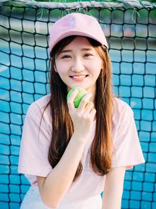 粉嫩棒球少女清新活力写真可爱十足