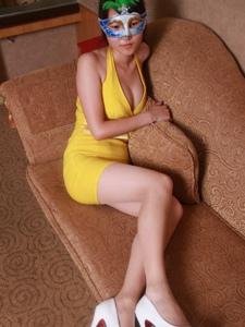 面具长腿美女私房性感秀美腿写真