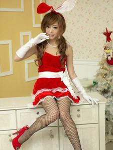 甜美少女圣诞节网袜引诱性感美腿养眼写真