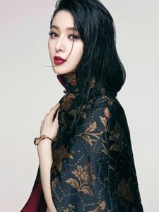 范冰冰美艳霸气杂志写真Vogue九月封面