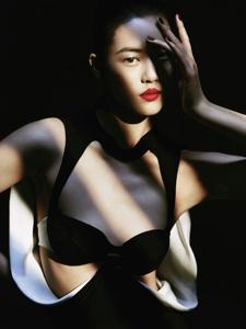 超模刘雯展示光影时尚大片