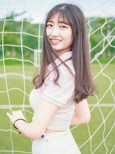 清新網球少女粉嫩可愛歡樂畢業季