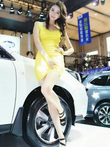 美艷車模性感高跟曲線玲嫵媚動人