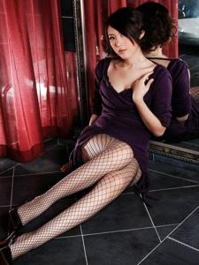 漂亮妹妹黑色网袜性感诱惑写真