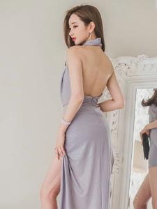 气质美模美背长裙高跟修长美腿迷人