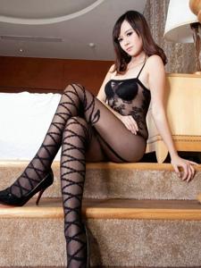 性感情趣连体黑丝袜美女销魂诱人写真
