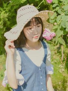 阳光下的氧气少女纯真娇美可人写真