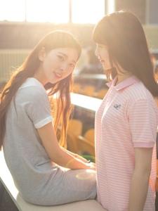 校园清新姐妹花美好友谊相伴一生