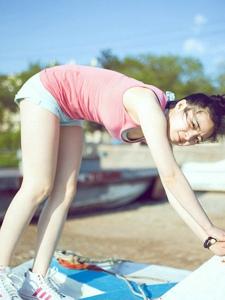 青春運動妹紙陽光活潑美照