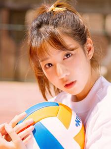排球活力少女青春陽光魅力四射