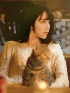 私房猫咪少女昏暗灯光美好相伴