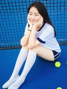 可愛網球少女長腿青春活潑寫真
