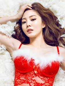 情趣圣诞装美女性感靓丽迷人写真