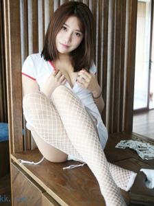 护士装美女许诺Sabrina吊带白丝网袜性感无限