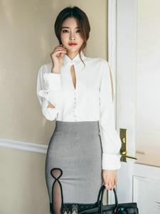 职业装美模简约时尚大气女神范