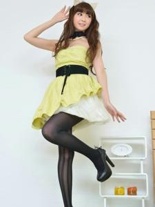 淡雅姑娘的黑絲貓耳俏麗美腿女神范