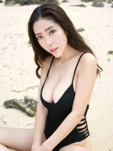 性感美女陈欣沙滩大波圆滑美乳诱惑写真
