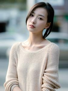 身材纤瘦的短发女孩阳光温馨写真