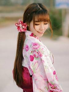 清新阳光的少女与和服的唯美写真