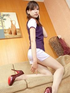 模特Abby旗袍短裙写真美腿极致诱惑
