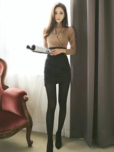 韓系美女黑絲美腿寫真氣質迷人
