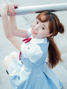 日本萌系清纯甜美少女阳光写真朝气十足