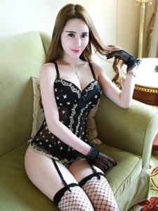 美女尤物情趣内衣写真黑丝翘臀迷人写真