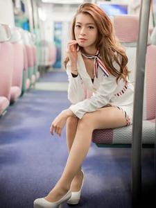 美女性感空姐制服美腿清新诱惑写真