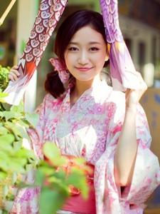 清纯少女户外和服写真甜美迷人诱惑