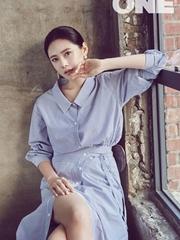 秋瓷炫韩国杂志封面 浪漫演绎初夏清新