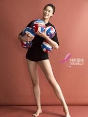 颜值高!女排队长惠若琪秀腹肌 身材不输超模