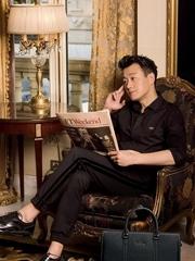 佟大为儒雅变时尚精英男 侧颜杀精致帅气