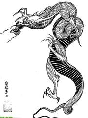 传说中的巨大神龙现身图案