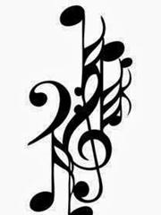 多款精致的音符纹身图案手稿素材