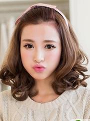中长梨花头卷发 大脸女生显瘦发型