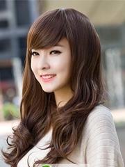 韓式中長梨花頭 清純甜美棕黑發型