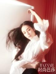 朦胧之美!迪丽热巴登《时尚芭莎》杂志大片,在迷幻灯光下展现多重魅力!