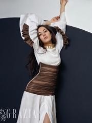 迪丽热巴红秀GRAZIA杂志封面大片