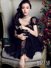 Angelababy芭莎珠宝杂志封面摄影图片