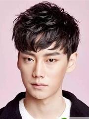 韩式男生短发烫发 纹理烫发型图片
