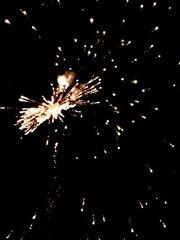 新年的天空