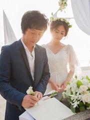 郑钧刘芸马尔代夫婚礼照