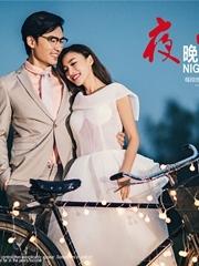 自行车的夜景