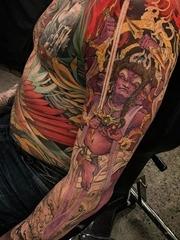 多款满背精彩的大面积复杂的纹身图案
