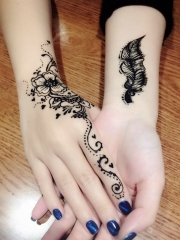 2017最流行的手臂时尚海娜纹身图案