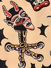 多款通亮的传统笼统风格纹身图案手稿素材来自乔布
