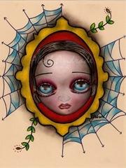 可爱向日葵女孩纹身图片