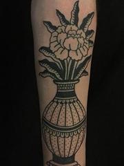 黑色的简易纹身简笔画纹身图案