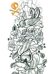 艺术个性图腾纹身